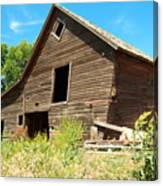 A Crooked Old Barn  Canvas Print