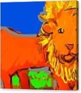 A Curious Lion Canvas Print