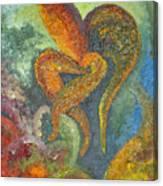 A Dancing Flower Canvas Print