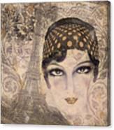 A Date With Paris Canvas Print