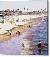 A Day At The Beach - Colored Pens Effect Canvas Print