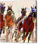 A Day At The Races 2 Canvas Print