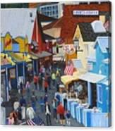A Day At The Wharf Canvas Print