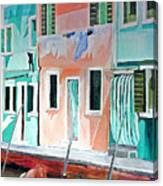 A Day In Burrano Canvas Print