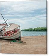 A Day Of Fishing Aground Canvas Print