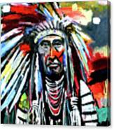 A Decorated Chief 1 Canvas Print