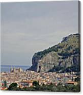 A Distant View Cefalu Sicily Canvas Print