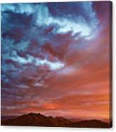 A Divided Sky At Sunset Canvas Print