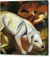 A Dog 1912 Canvas Print