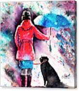 A Dog's Best Friend Canvas Print