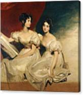 A Double Portrait Of The Fullerton Sisters Canvas Print