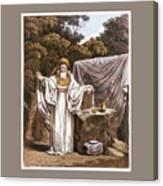 A Druid In His Judicial Habit Canvas Print