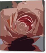 A Dusty Rose-d Canvas Print