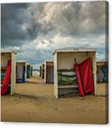 A Dutch Summer At The Beach Canvas Print