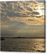 A Evening With Hudson River Canvas Print