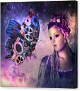 A Fairy Butterfly Kiss Canvas Print
