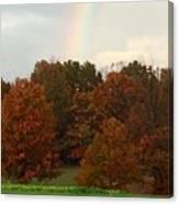 A Fall Rainbow Canvas Print