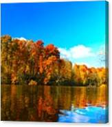 A Fall Reflection Canvas Print