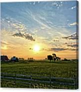 A Farmer's Morning 2 Canvas Print