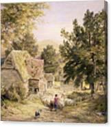 A Farmyard Near Princes Risborough Canvas Print