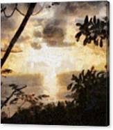 A Fiery Sunset Canvas Print