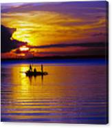 A Fisherman's Sunset  Canvas Print