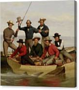 A Fishing Party Off Long Island Metal Canvas Print