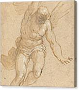 A Flying Angel Canvas Print