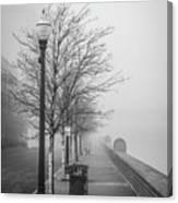 A Foggy Walkway Canvas Print