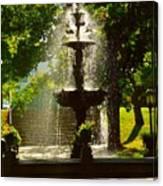 A Fountain In A St. Paul Park Canvas Print