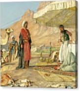 A Frank Encampment In The Desert Of Mount Sinai 1842 Canvas Print