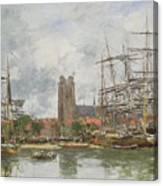 A French Port Canvas Print