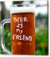 A Friendly Beer Canvas Print