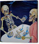 A Friendly Game Of Bones Canvas Print