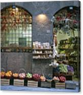 A Fruit And Vegetable Shop In Siena Canvas Print