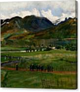 A Funeral Day In Jolster Canvas Print