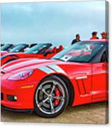A Gaggle Of Vettes Canvas Print
