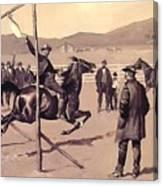 A Gander Pull 1894 Canvas Print