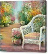 A Garden Chair Canvas Print