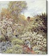 A Garden In Spring Canvas Print