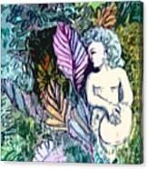A Garden Muse Canvas Print