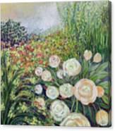 A Garden Romance Canvas Print
