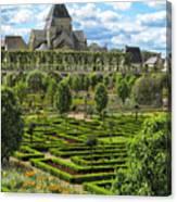A Garden View At Chateau De Villandry Canvas Print