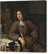 A Gentleman At His Desk Canvas Print