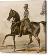 A Gentleman On Horseback With A Subsidiary Study Of The Horse's Head Canvas Print