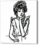 A Gibson Girl Posing Canvas Print