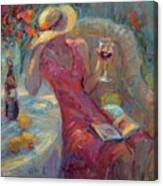 A Glass Of Red Canvas Print