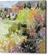 A Glimpse Beyond The Brambles, France.. Canvas Print