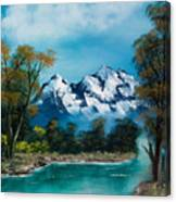 A Glimpse Of The Mountains  Canvas Print