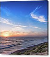A Glorious Sunset At North Ponto, Carlsbad State Beach Canvas Print